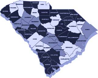 SC clickable county map for SC Crime Stopper Programs